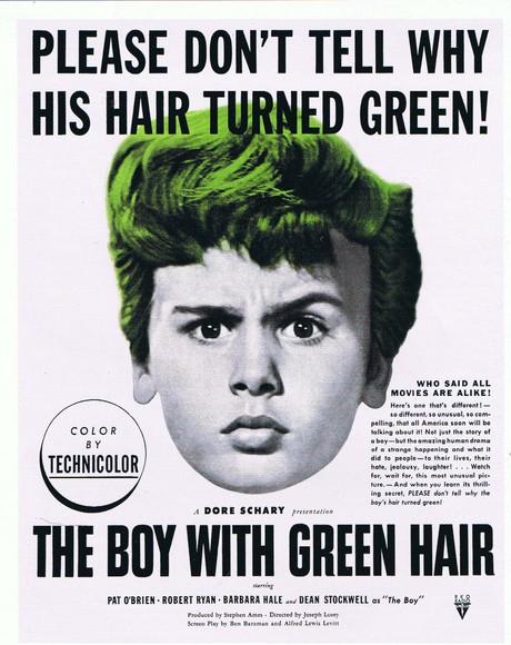 garçon aux cheveux verts spoutnik