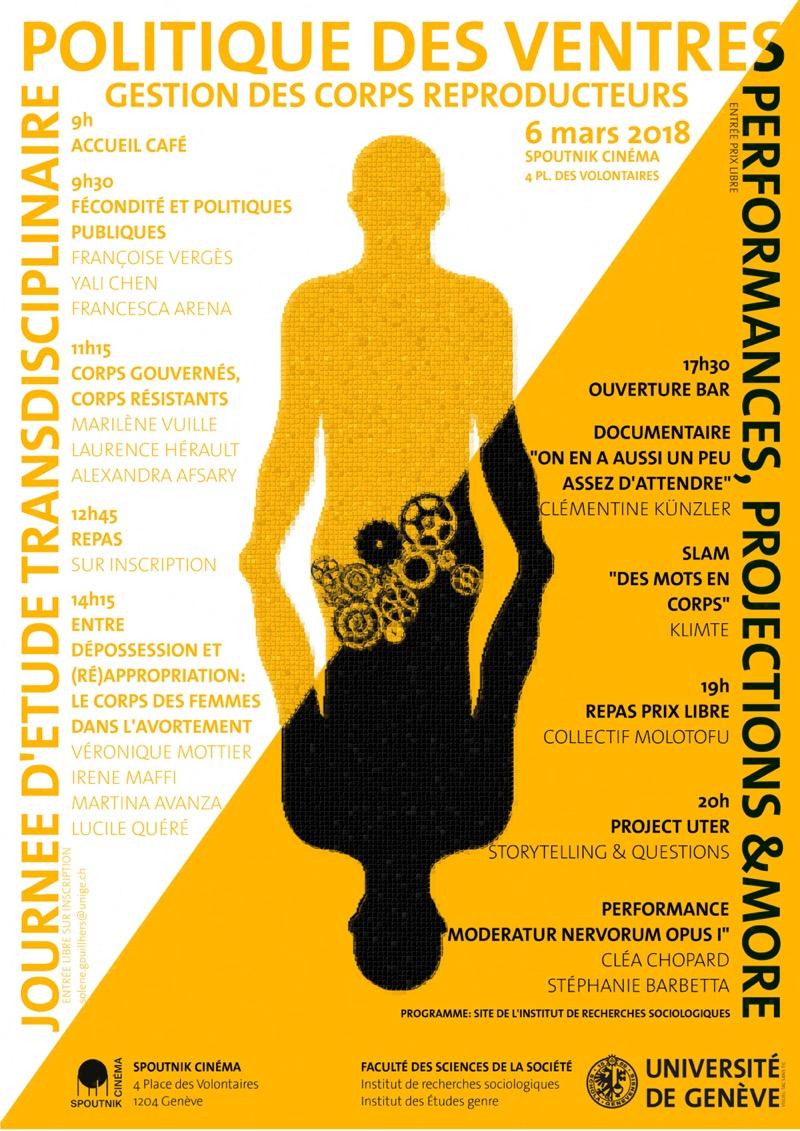 la politique des ventres - JOURNEE D'ETUDE TRANSDISCIPLINAIRE ET SOIREE DE PROJECTIONS/PERFORMANCES AUTOUR DE LA GESTION DES CORPS REPRODUCTEURS